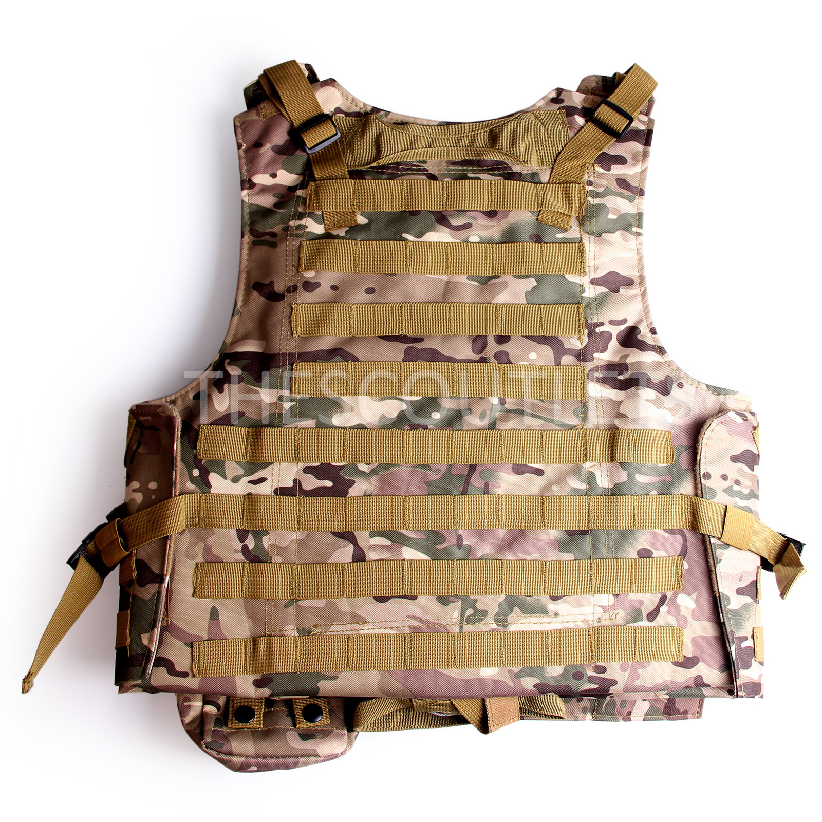 Military-Tactical-Paintball-Army-Molle-Carrier-Adjustable-Airsoft-Combat-Vest thumbnail 15