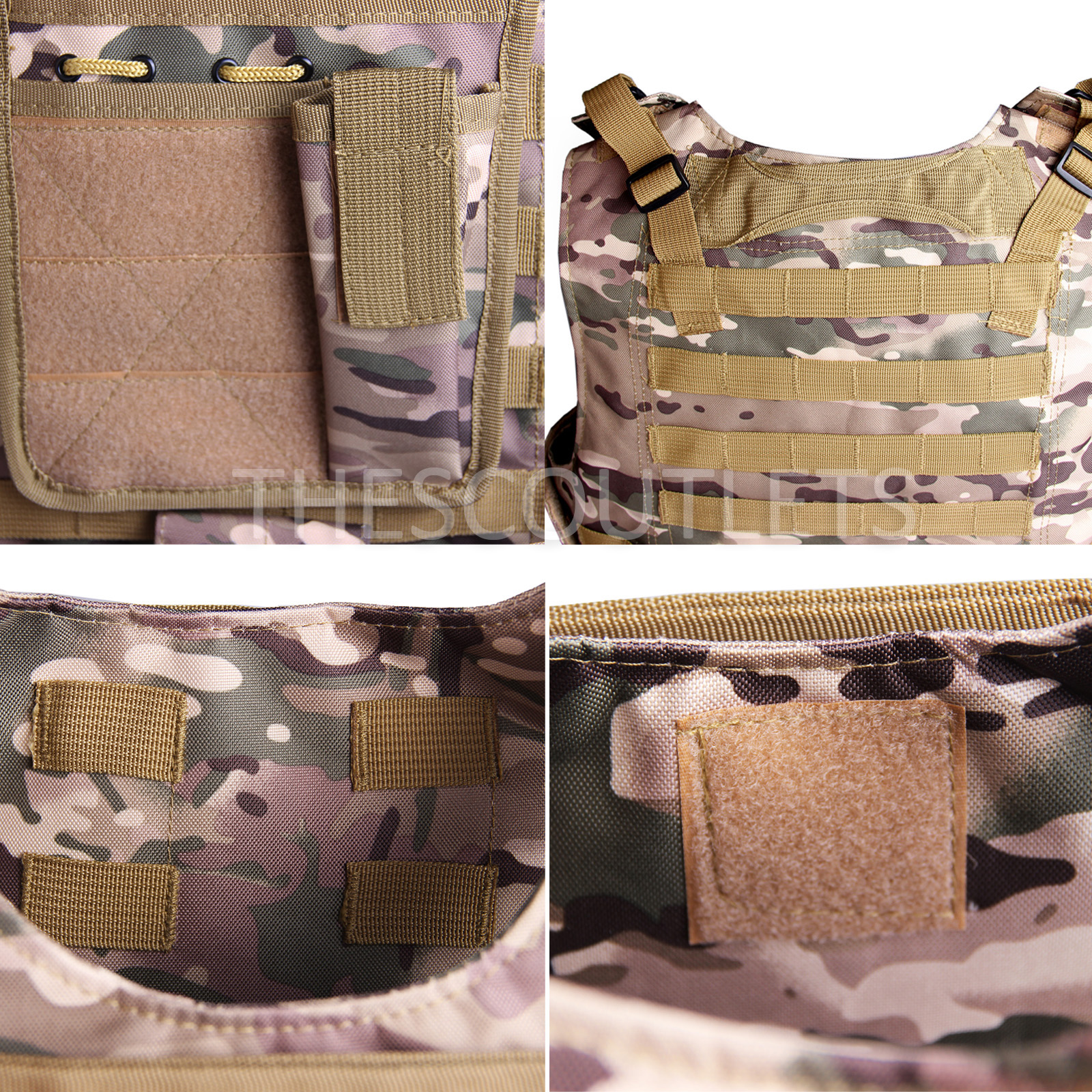 Military-Tactical-Paintball-Army-Molle-Carrier-Adjustable-Airsoft-Combat-Vest thumbnail 16