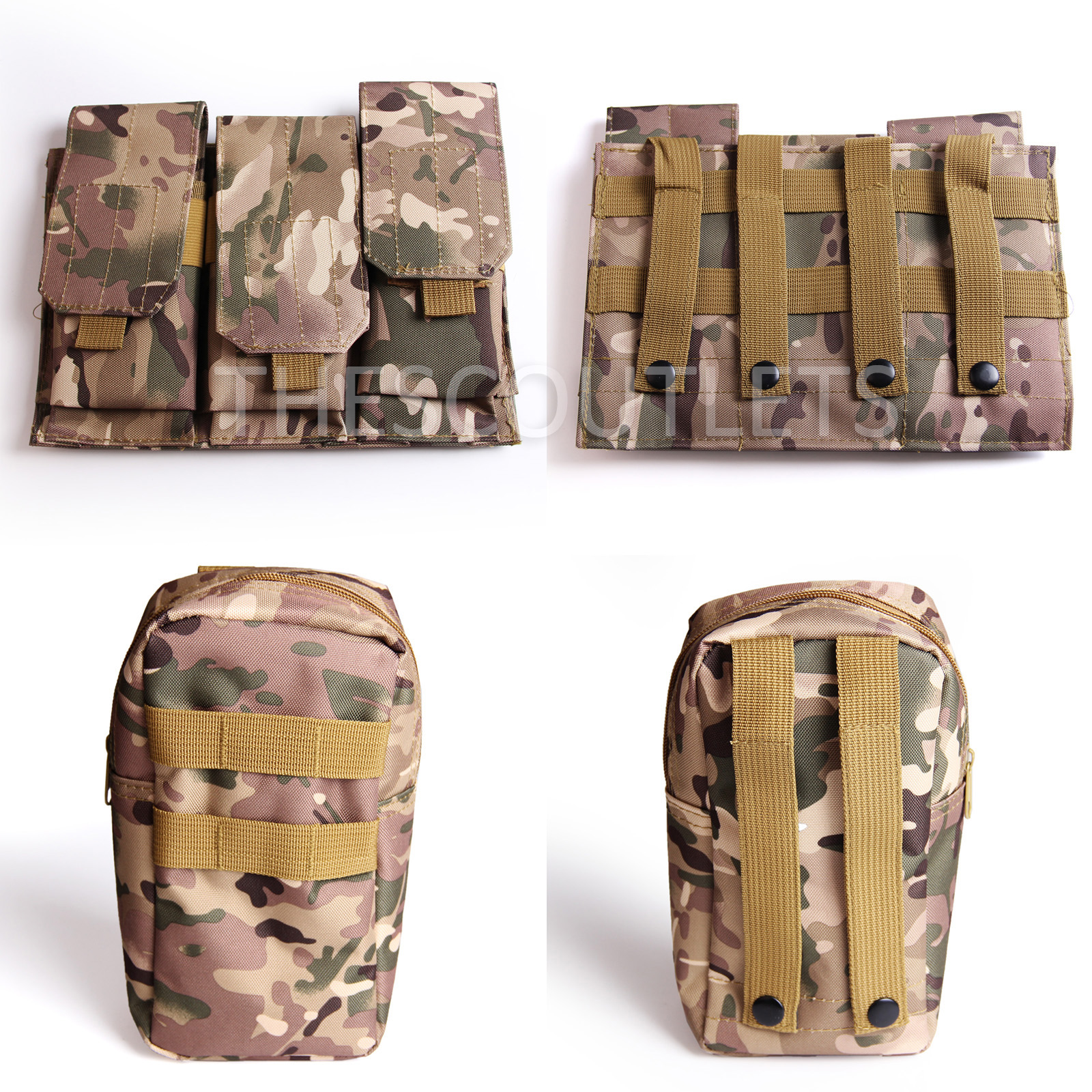 Military-Tactical-Paintball-Army-Molle-Carrier-Adjustable-Airsoft-Combat-Vest thumbnail 18