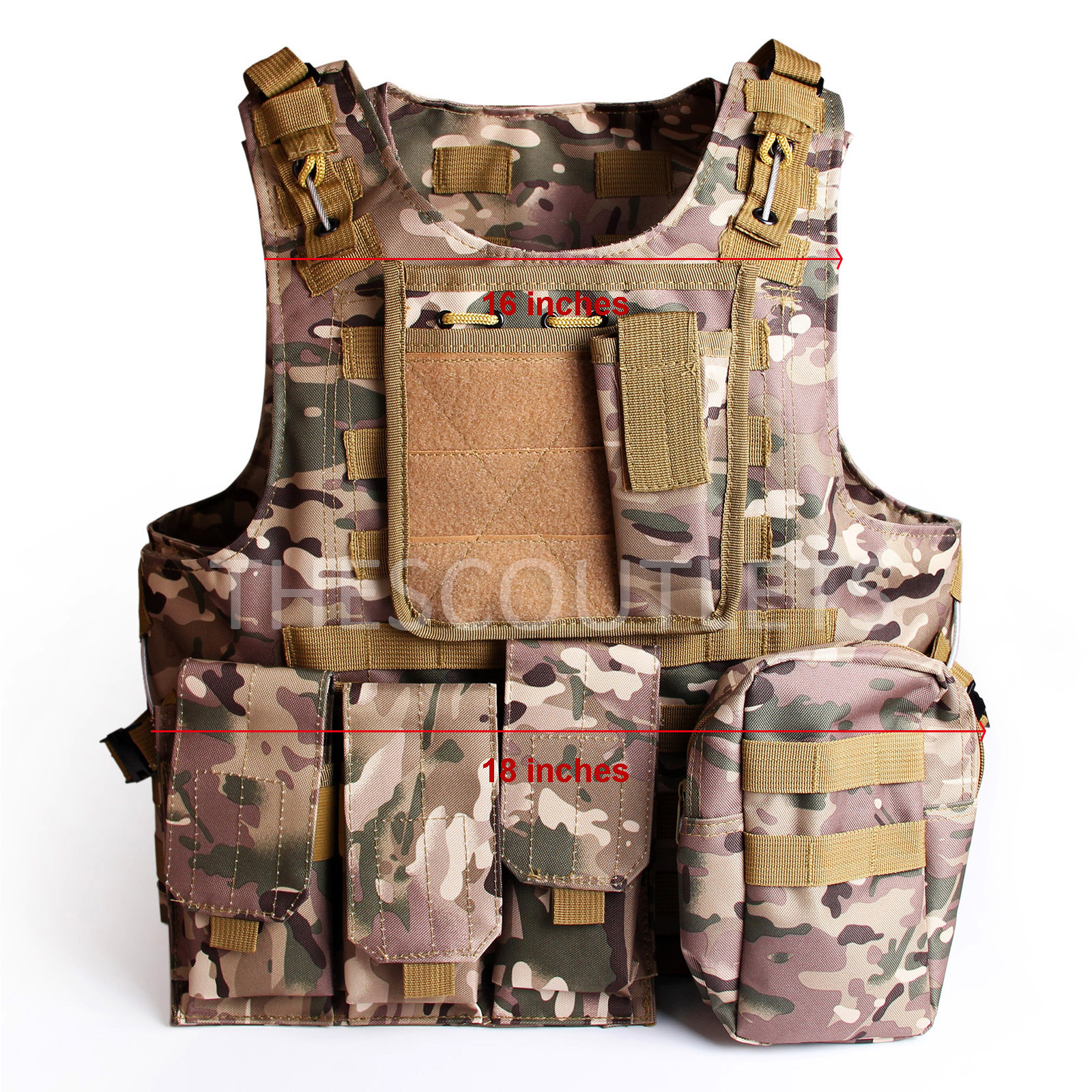 Military-Tactical-Paintball-Army-Molle-Carrier-Adjustable-Airsoft-Combat-Vest thumbnail 14