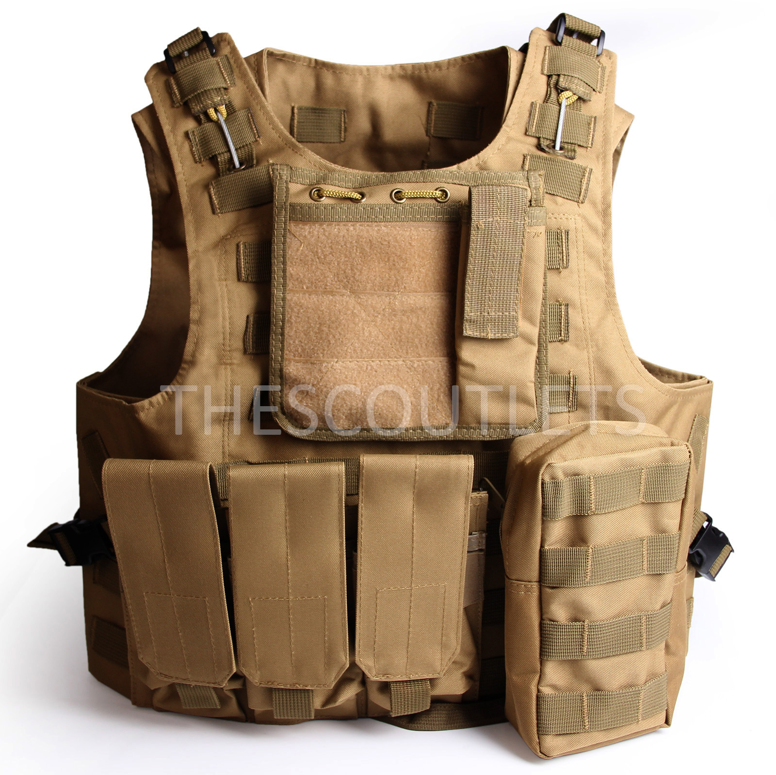 Military-Tactical-Paintball-Army-Molle-Carrier-Adjustable-Airsoft-Combat-Vest thumbnail 20