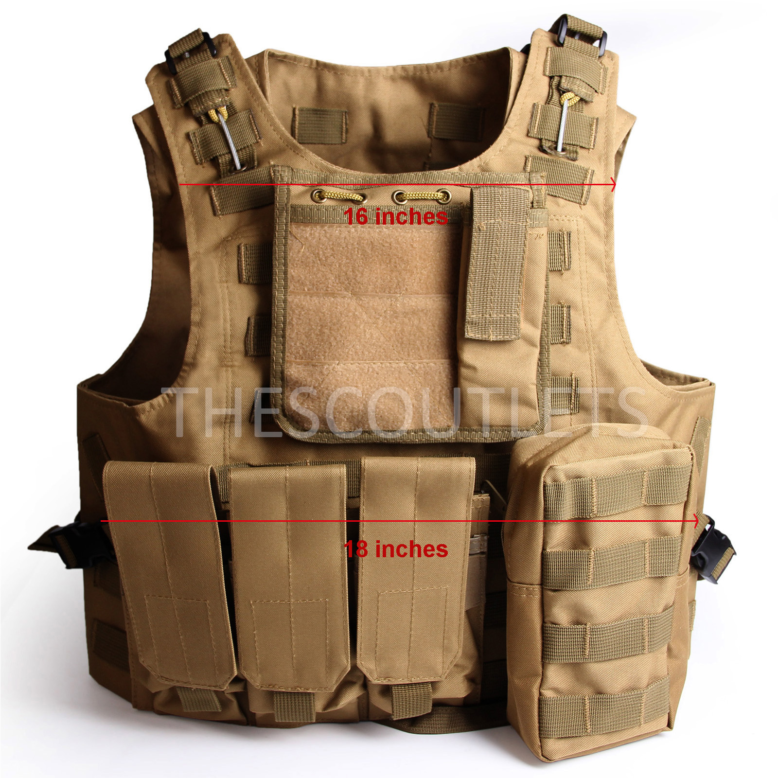 Military-Tactical-Paintball-Army-Molle-Carrier-Adjustable-Airsoft-Combat-Vest thumbnail 22