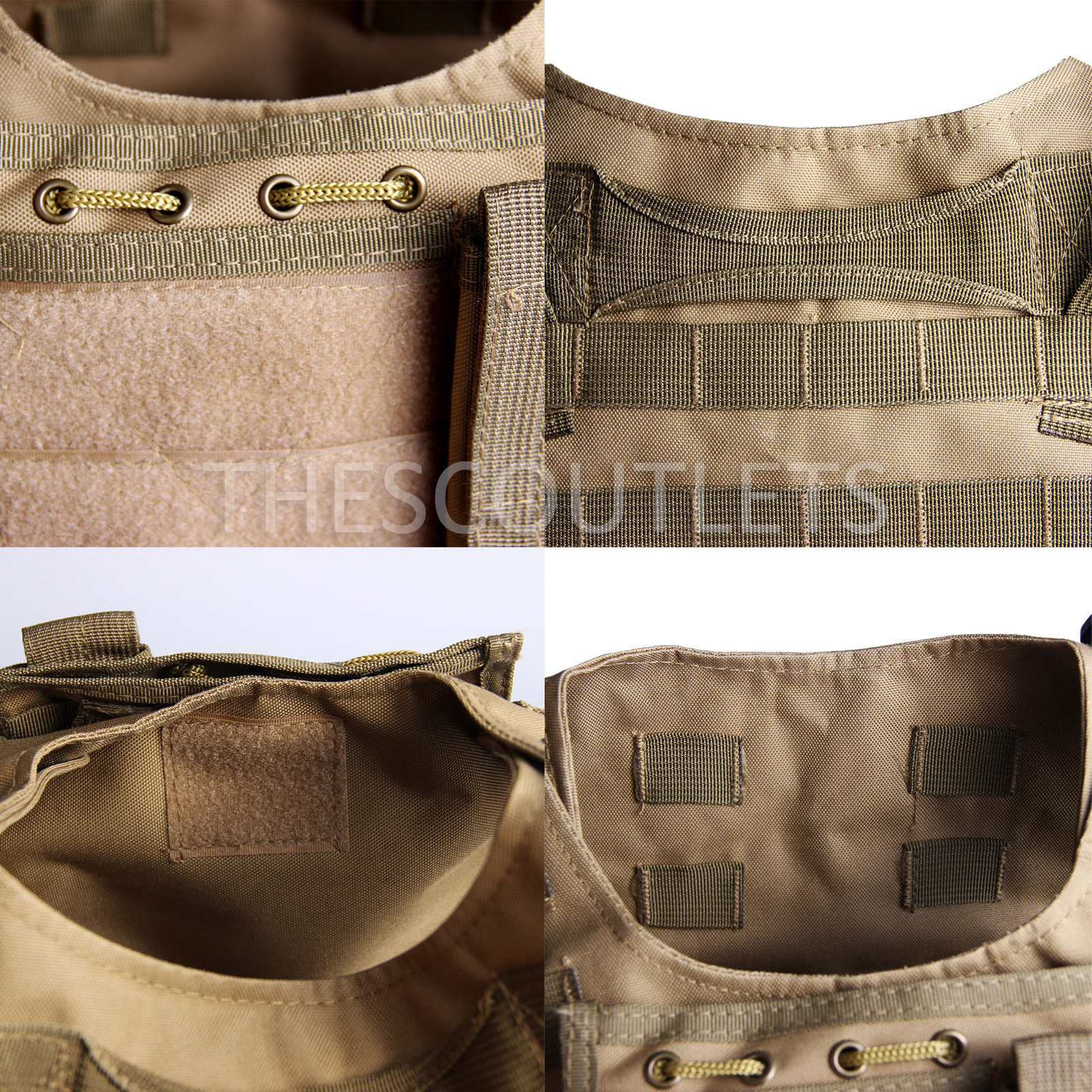Military-Tactical-Paintball-Army-Molle-Carrier-Adjustable-Airsoft-Combat-Vest thumbnail 24