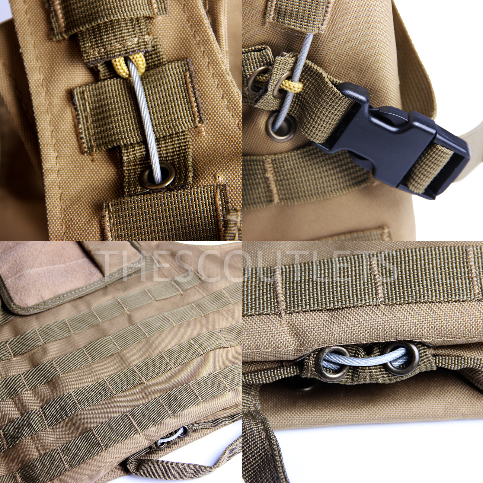 Military-Tactical-Paintball-Army-Molle-Carrier-Adjustable-Airsoft-Combat-Vest thumbnail 25