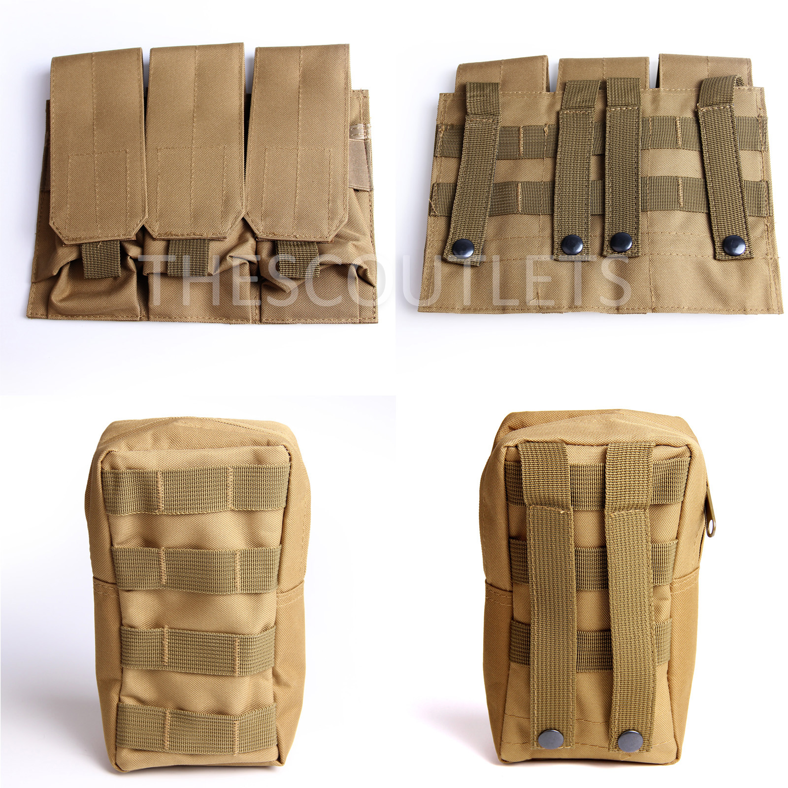 Military-Tactical-Paintball-Army-Molle-Carrier-Adjustable-Airsoft-Combat-Vest thumbnail 26