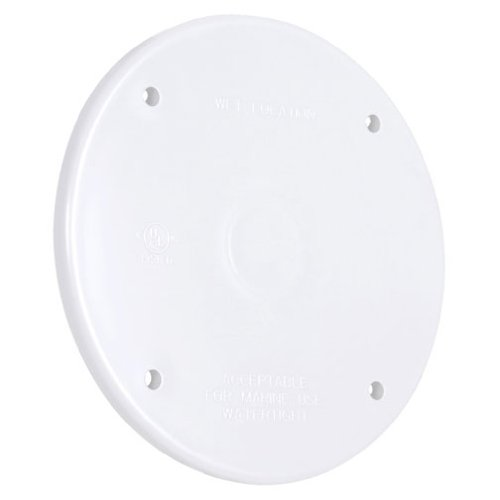 Two Gang White Hubbell PBC200WH Blank Weatherproof Nonmetallic Device Cover