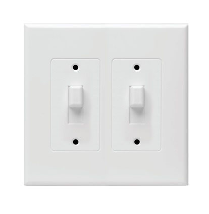 Hubbell Taymac 2672w Masque Revive 2 Gang Toggle Cover Up Wall Plate White Ebay