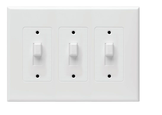 Hubbell Taymac 2673w Masque Revive 3 Gang Toggle Cover Up Wall Plate White Ebay