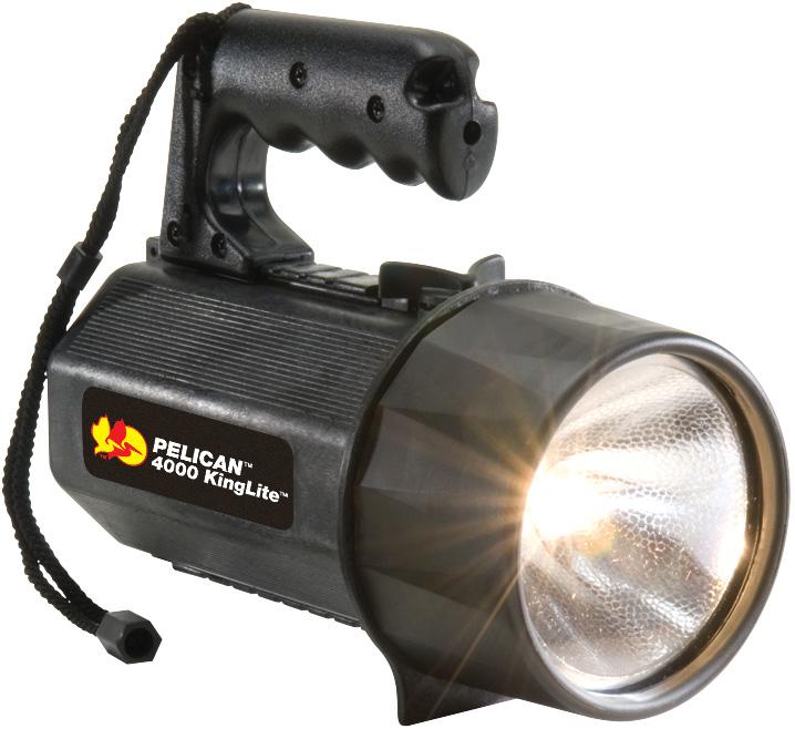 Details about Pelican - 4000 KingLite Xenon SpotLight Flashlight - Black -  (8) D Batteries