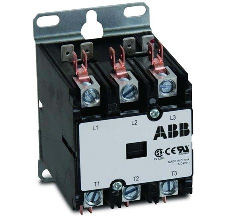 abb dp40c3p 1 40 amp 3 pole 120v coil definite purpose contactor. Black Bedroom Furniture Sets. Home Design Ideas