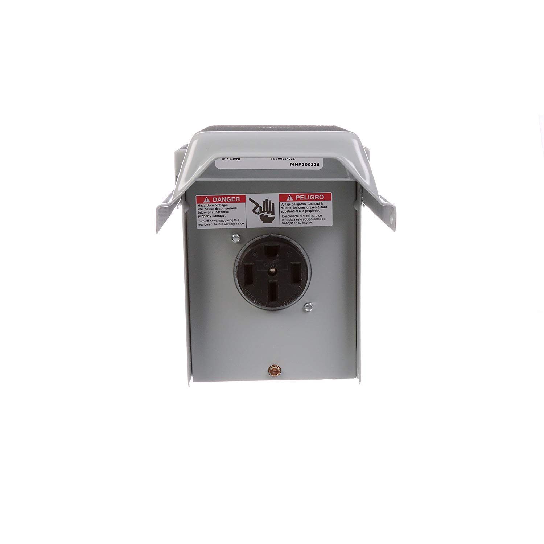 milbank p-54 50 amp 14-50r 50 amp unmetered surface mount ... rv 30 amp fuse box