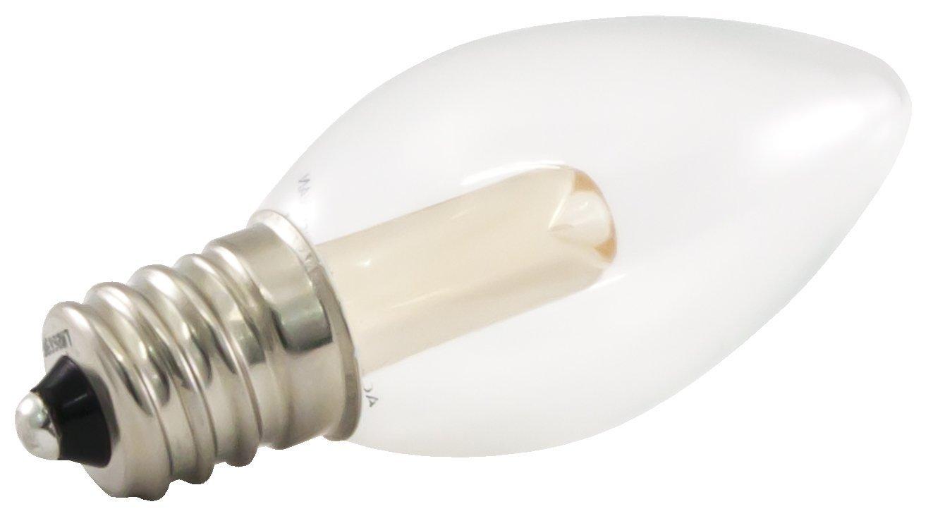 dimmable led c7 light bulbs ideal for string lights candelabra base warm white ebay. Black Bedroom Furniture Sets. Home Design Ideas