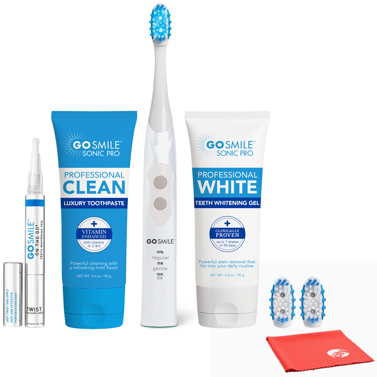 Details About Go Smile Smart Brush Whitening Kit With Luxury Toothpaste And Whitening Pen