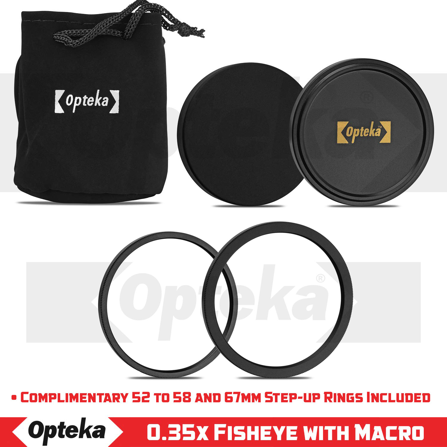 10 Items Opteka 52mm 0.43X HD Wide Angle Lens with Macro for Nikon DSLR Cameras Bundle with Opteka 52mm 2.2X HD Telephoto Lens and Multi-Piece Professional Accessories