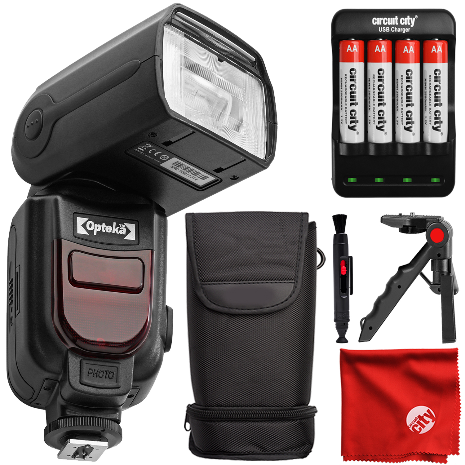 Digital Dedicated TTL Flash for Canon w//with Bounce Swivel and Slave Features