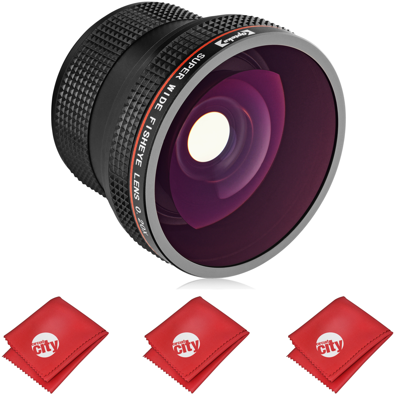 D3500 D750 D3300 Digital SLR Cameras D3400 D4 D5300 Df D5500 D810 D7500 D610 D7200 D5600 D500 D850 Opteka .35x HD Super Wide Angle Panoramic Macro Fisheye Lens for for Nikon D5