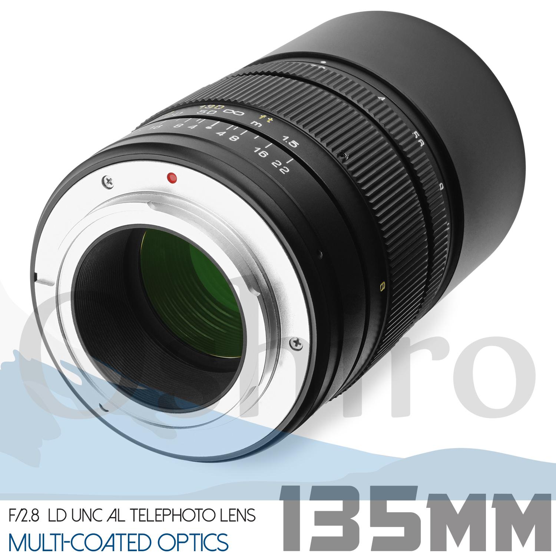 Oshiro 135mm Telephoto Lens for Canon EF EOS 80D 70D 7D 6D 5D T6i T6s T5i T5 T4i