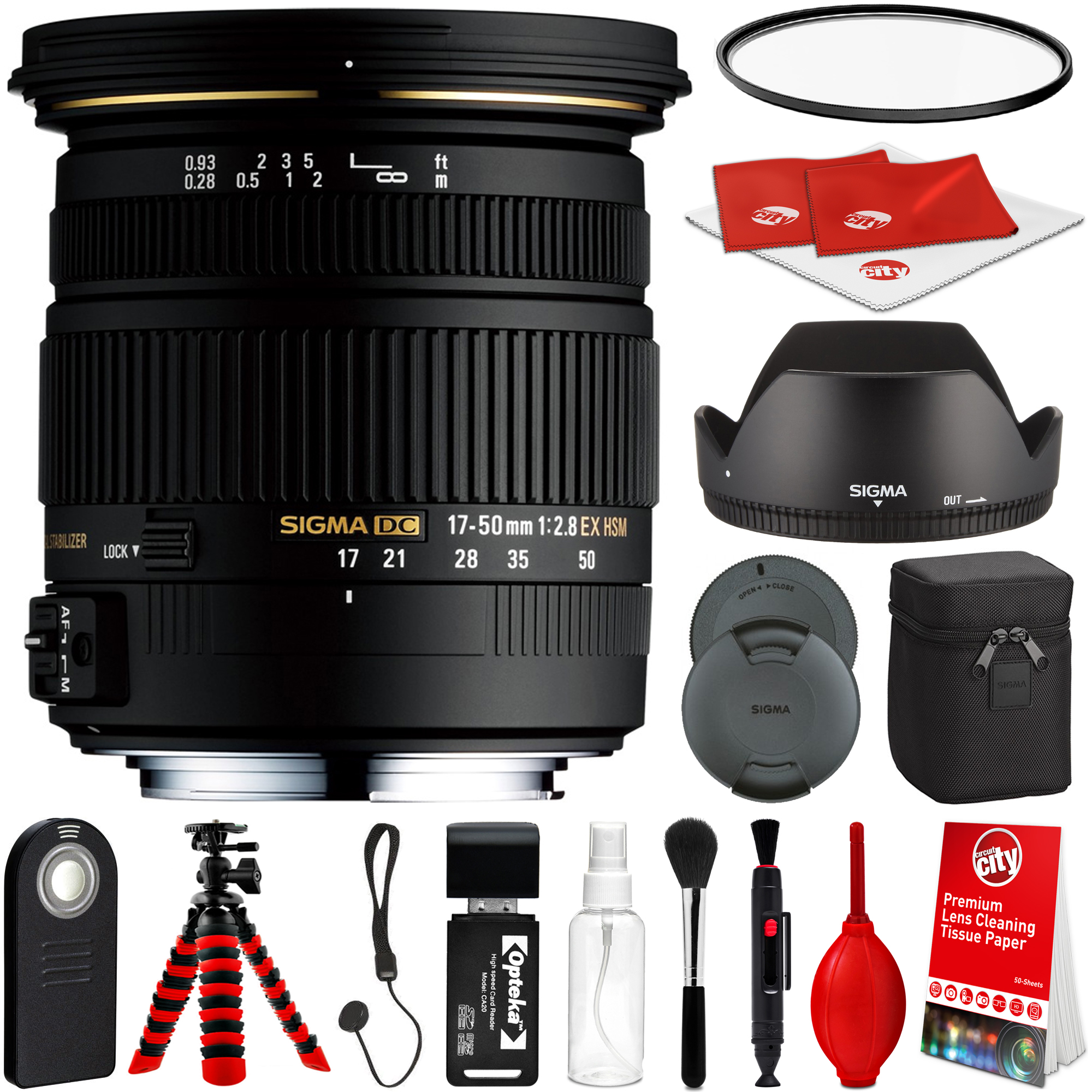 Details about Sigma 17-50mm F2 8 EX DC HSM Lens for Sony A + Advanced  Travel Bundle Kit