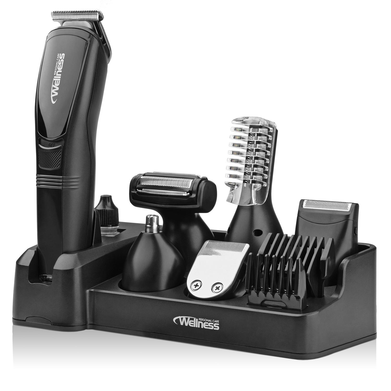 Wellness Men S Pro 8 In 1 Rechargeable Wet Dry Beard Shaving Hair Grooming Kit 814578029192 Ebay