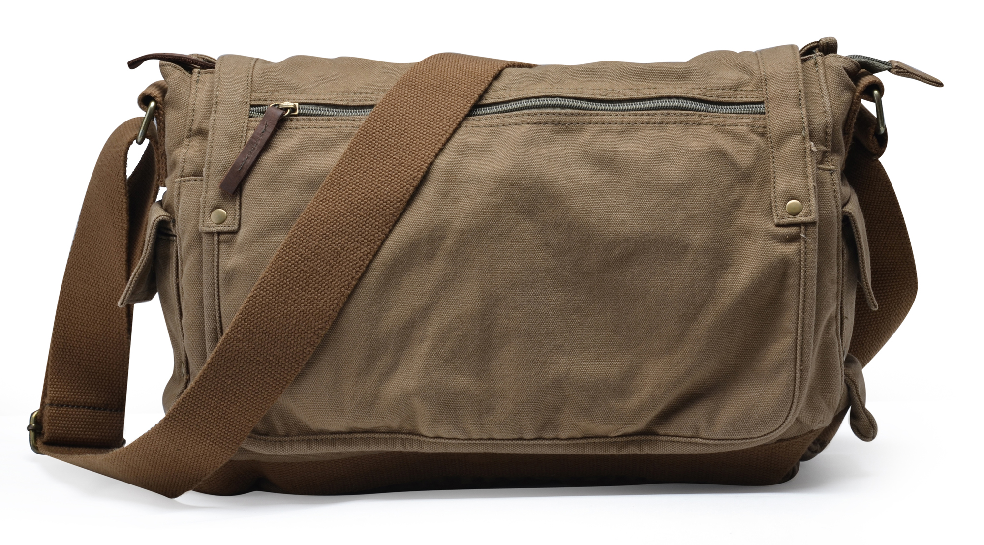 Gootium Casual Sturdy Canvas Military Messenger Bag