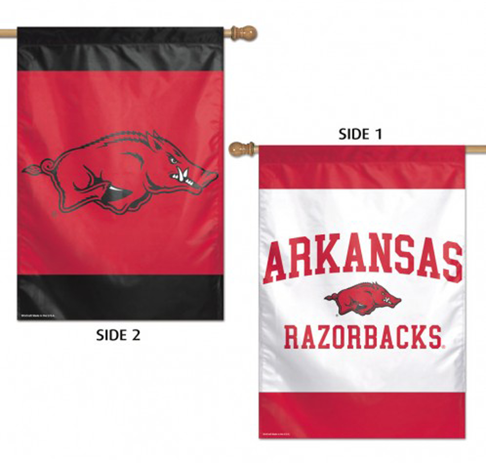 "Arkansas Razorbacks House Flag NCAA Licensed 28/"" x 40/"" Briarwood Lane"