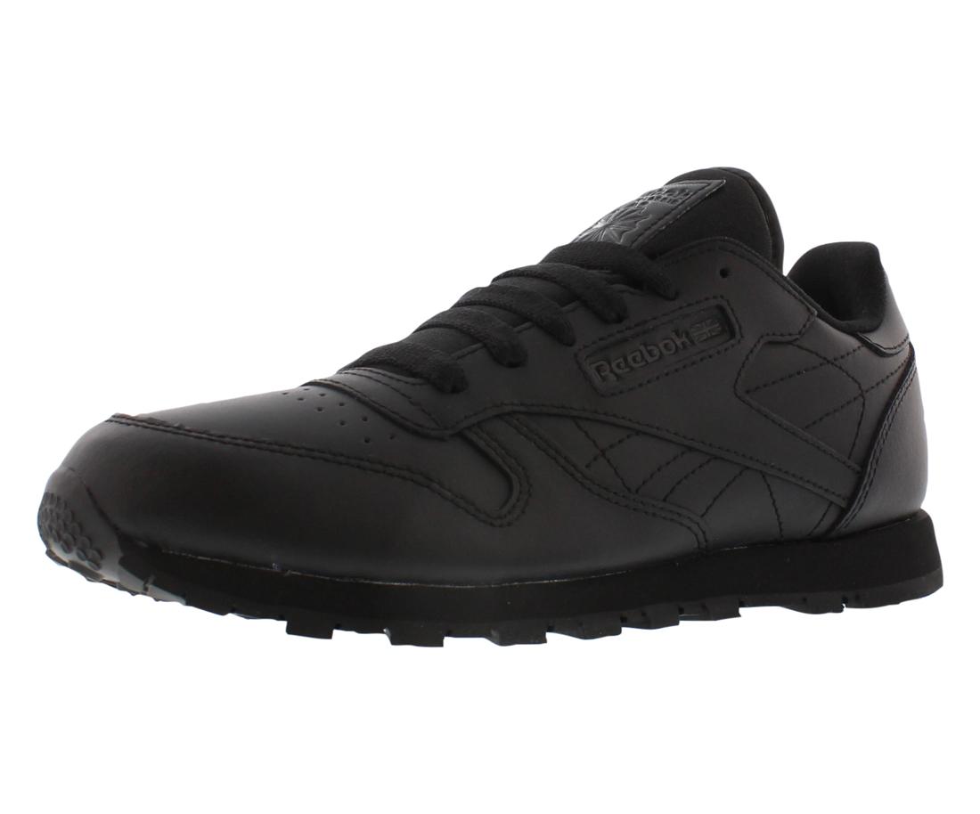 bfe534021d7 Reebok Classic Leather Boy s Casual Shoes (Black) - BuyAndWalk.com