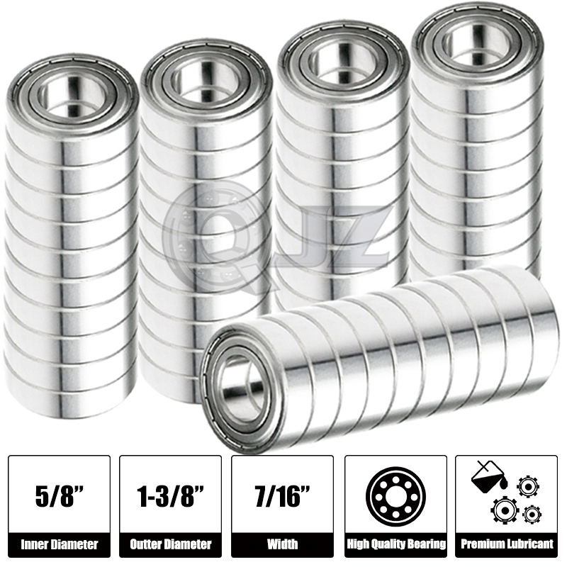 8x R10-OPEN Ball Bearing Premium Free Shipping 1.375in x 0.625in x 0.2813in