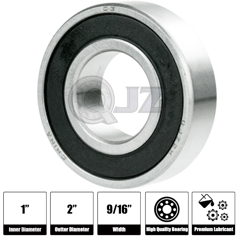 5x 1641-2RS Ball Bearing 2in x 1in x 0.5625in Free Shipping 2RS RS