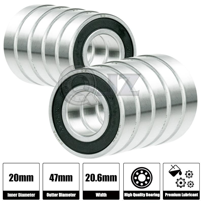 2x MR63-ZZ Ball Bearing 6mm x 3mm x 2.5mm ZZ 2Z NEW QJZ Free Shipping Metal