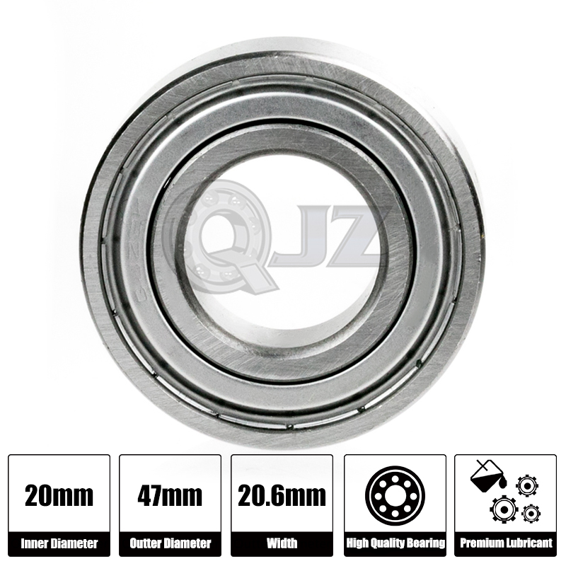 1x 5204-2Rs Double Row Seals Bearing Ball 20mm 47mm 20.6mm NEW Rubber