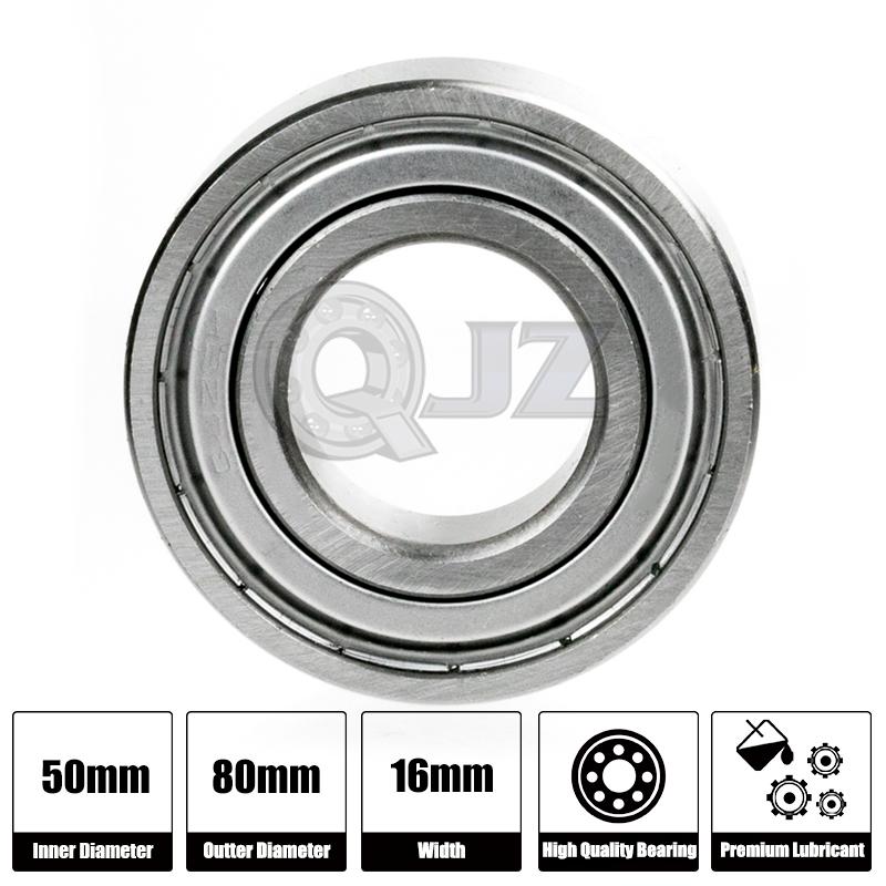 Shielded 6010 ZZ Ball Bearing 50x80x16 mm Large 50mm Bore ID x OD 80mm x 16mm