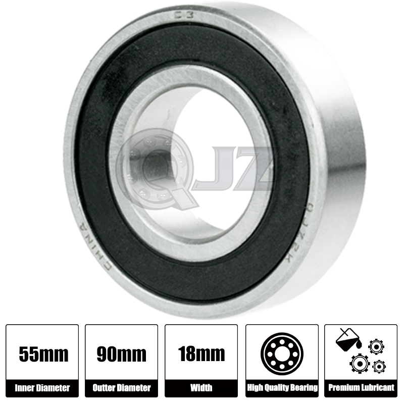 1x 6011-OPEN Ball Bearing 55mm x 90mm x 18mm QJZ Brand NEW Premium