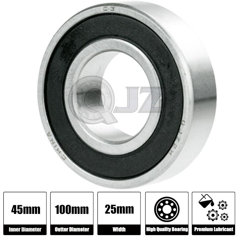 1x 6309-OPEN Ball Bearing 45mm x 100mm x 25mm QJZ Brand NEW Premium