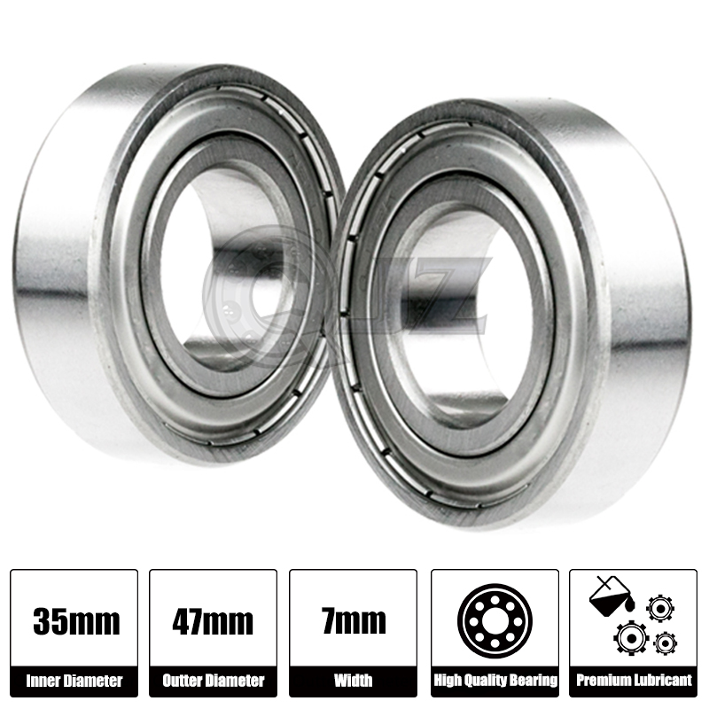 2x 6807-2RS Ball Bearing 35mm x 47mm x 7mm Rubber Seal Premium RS 2RS Shielded