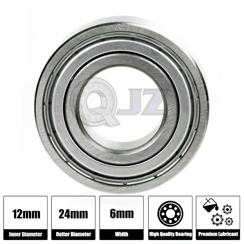 50x 6901-ZZ Ball Bearing 12mm x 24mm x 6mm Double Shielded Metal Seal NEW 2Z