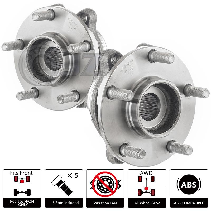 FOR 2x 2006-2010 Infiniti M35 Front Wheel Hub Bearing ABS 4Wheel Drive