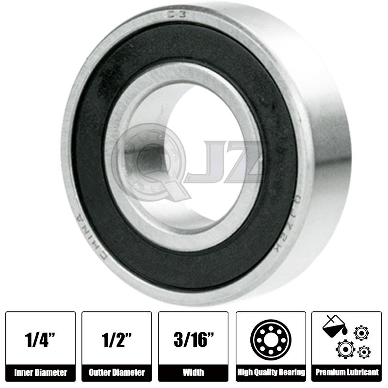 100x 608ZZ Ball Bearing ABEC 5 Hi-Quality Bearing Skate Board LongBoard Inline