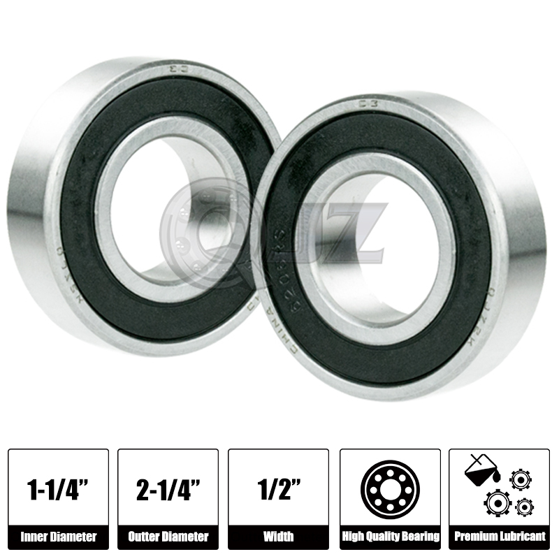 8x 1628-2RS Ball Bearing 1.625in x 0.625in x 0.5in Free Shipping 2RS RS
