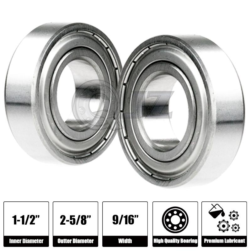 2x R24-OPEN Ball Bearing Premium 2.625in x 1.5in x 0.4375in QJZ Free Shipping