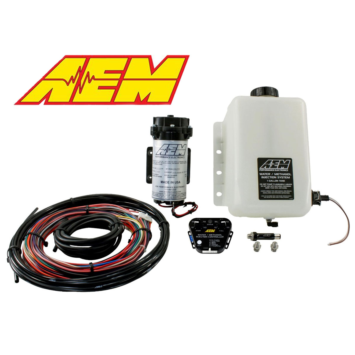 AEM 30-3350 V2 1-Gallon Water Methanol Injection Kit Gasoline w/ Controller  642035900872 | eBay