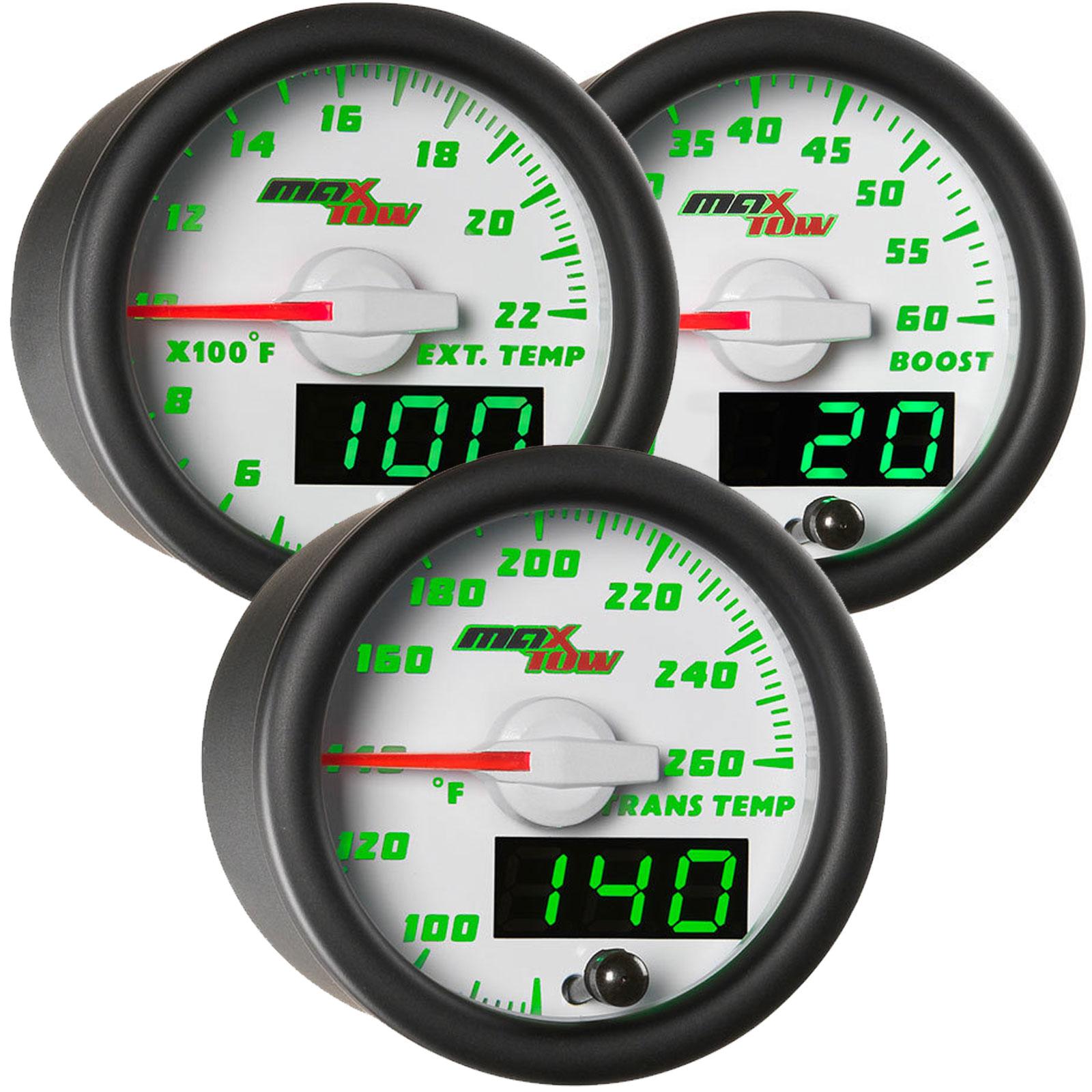 "EGT Pyrometer Gauge-Amber// White 52mm  2 1//16/"" W// Temperature probe"