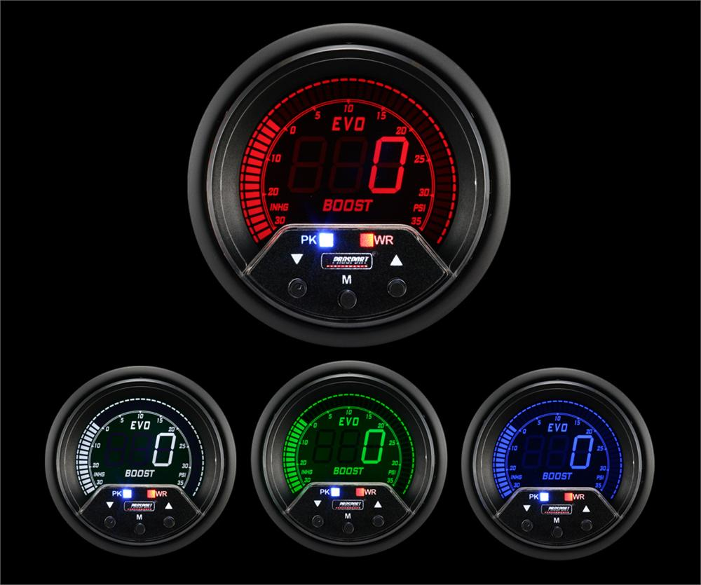 Prosport 60mm Premium Evo Electrical Boost Gauge (238EVOBO-PKR.PSI ...