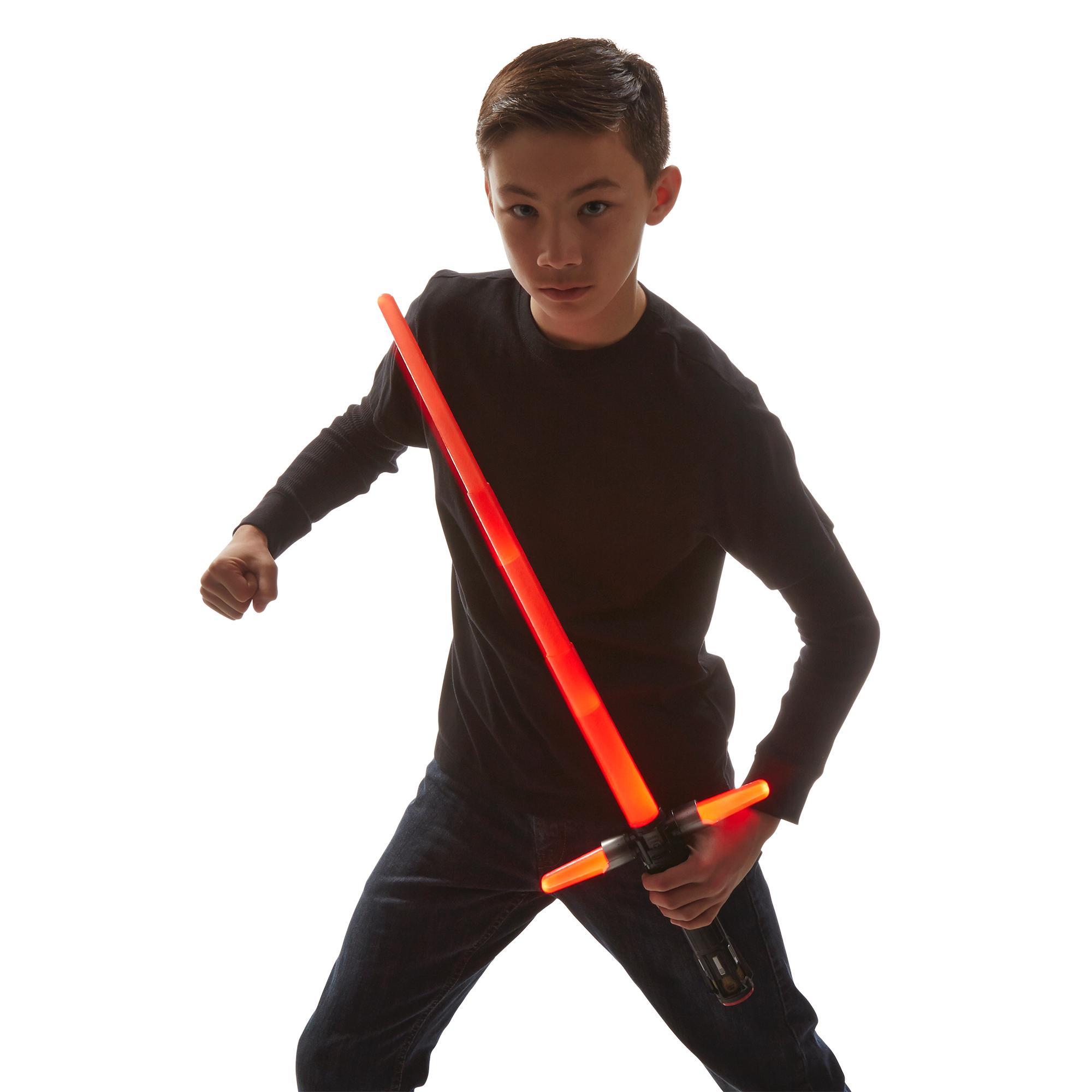 Star-Wars-The-Force-Awakens-Kylo-Ren-Deluxe-Electronic-Lightsaber thumbnail 3