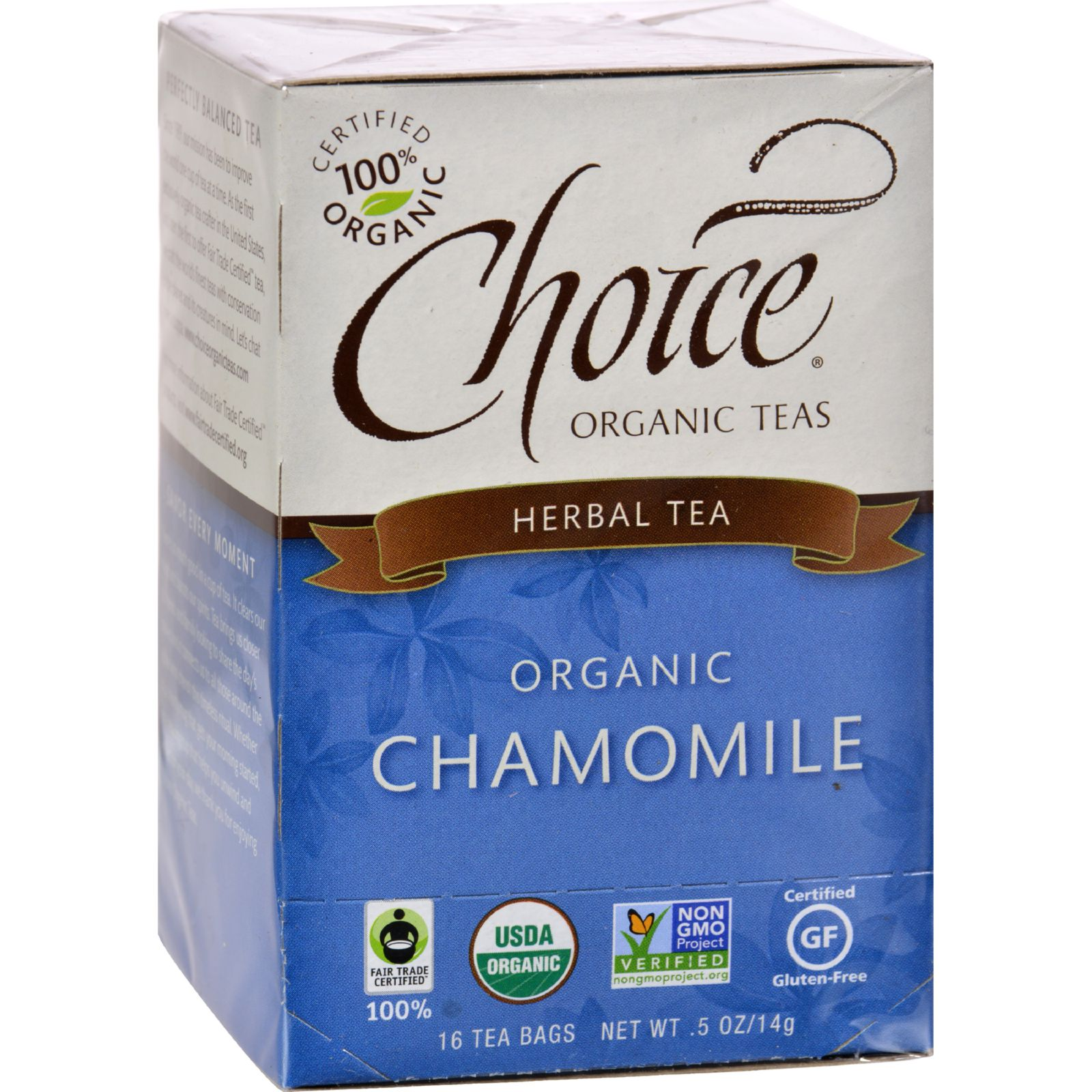 CHOICE ORGANIC TEAS Chamomile Herb Organic Tea 16 BAG