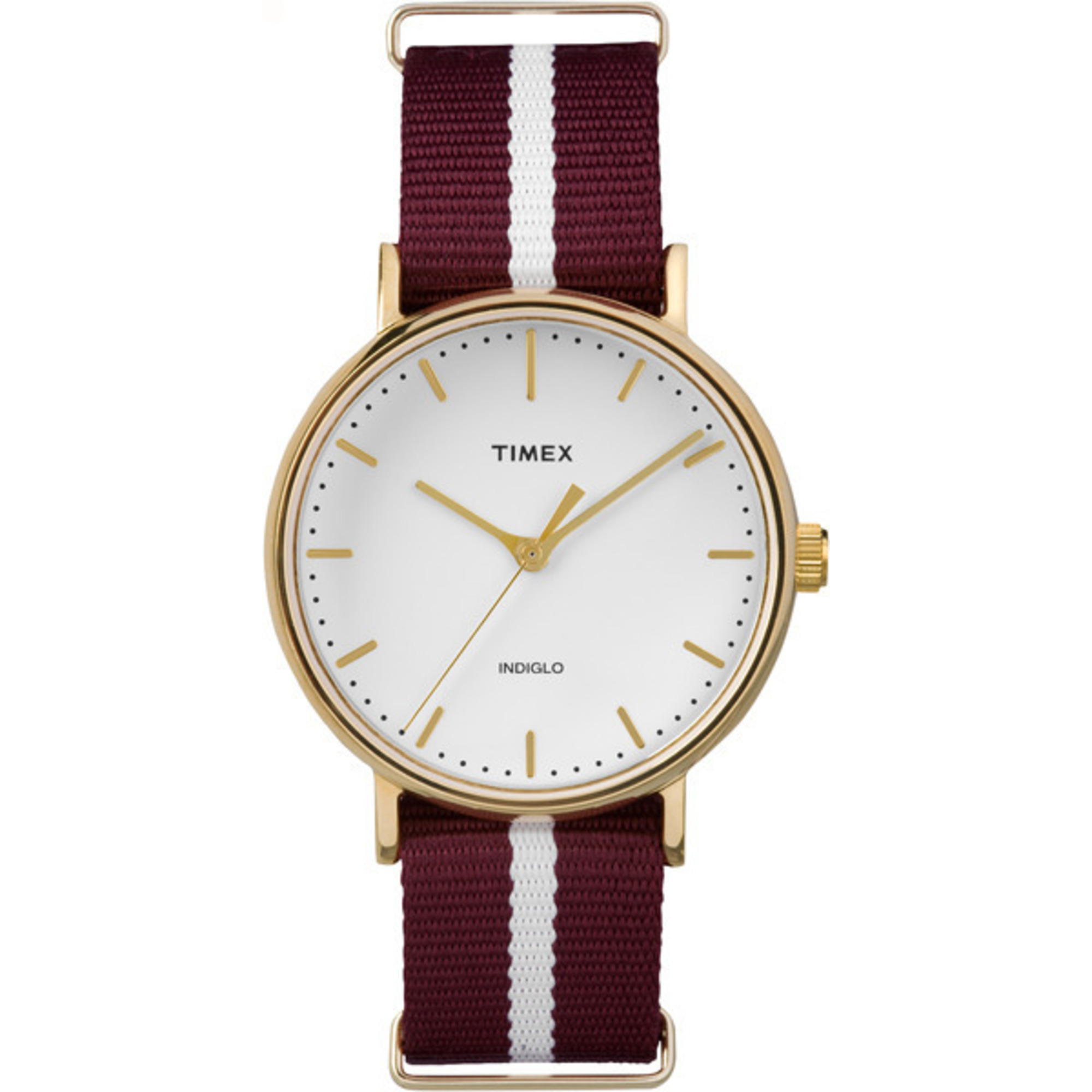 Timex Weekender Fairfield 37mm Red/White Strap Minimal Dial