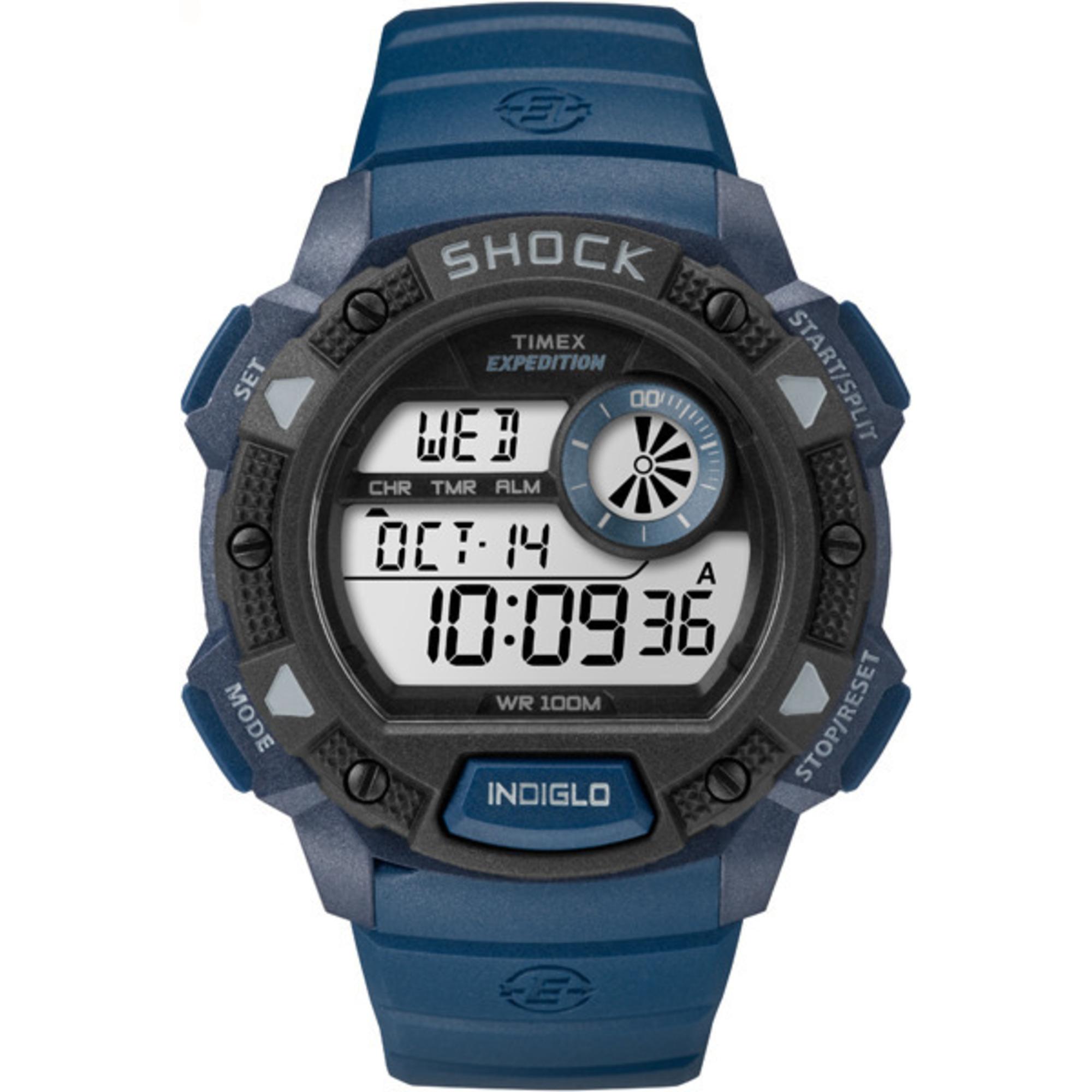 Timex Men's Expedition Base Shock Blue Digital Chronograph W