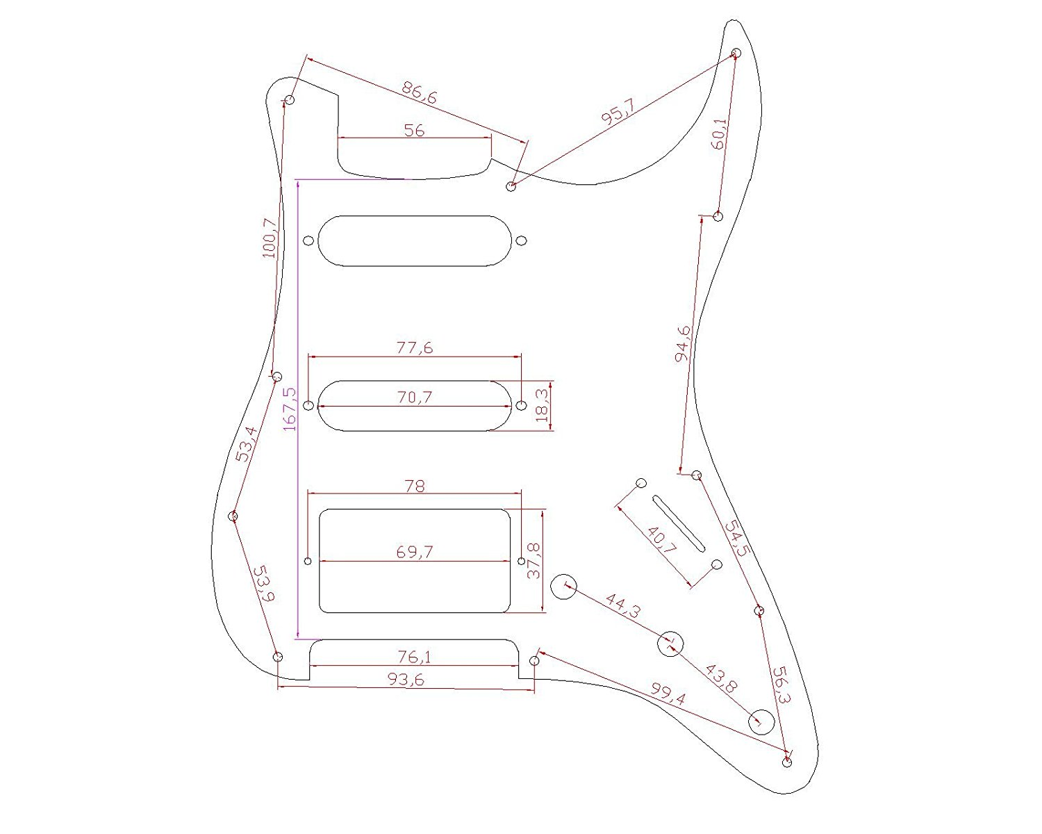 stratocaster pickguard for fender us  mexico strat electric guitar