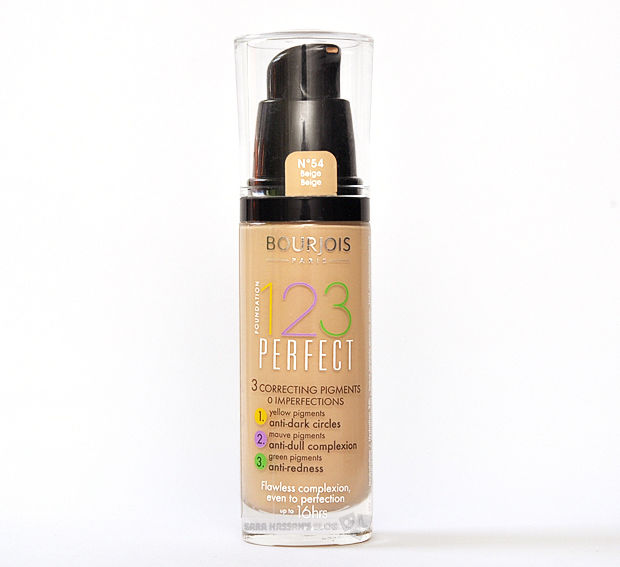 bourjois paris 123 perfect foundation various shades 30ml ebay. Black Bedroom Furniture Sets. Home Design Ideas
