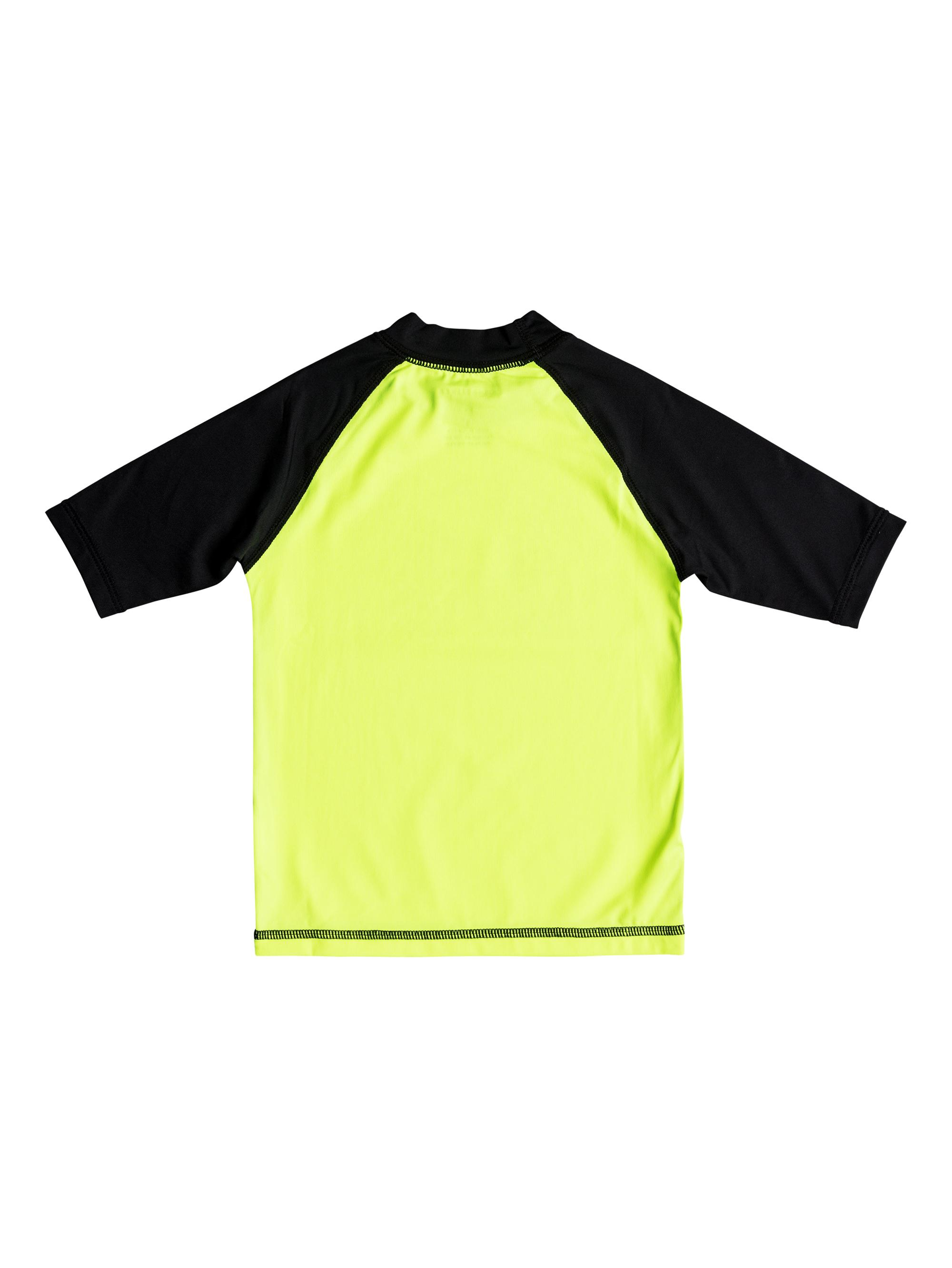 e4af13a180 Quiksilver™ Boys 2 - 7 Bubble Dream Short Sleeve UPF 50 Rashguard  Eqkwr03024 Safety Yellow/ Black 3
