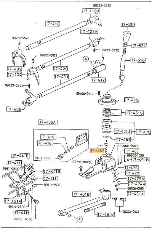 New Genuine Mazda Mx5 Rx7 Rx8 Bravo Bt50 Gear Shift Lever Cup Bush 039817462a: 1985 Mazda Rx 7 Wiring Diagram At Hrqsolutions.co